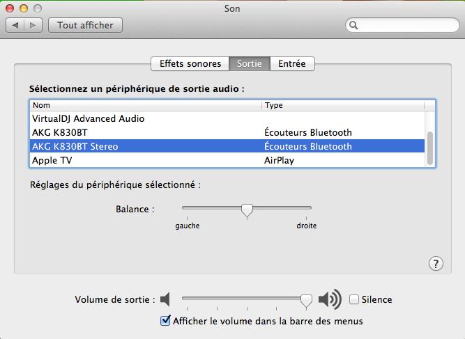 Sortie(s) Audio